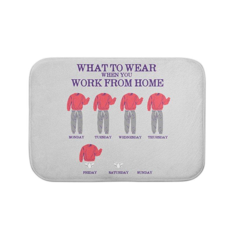 What To Wear Home Bath Mat by hillarywhiterabbit's Artist Shop