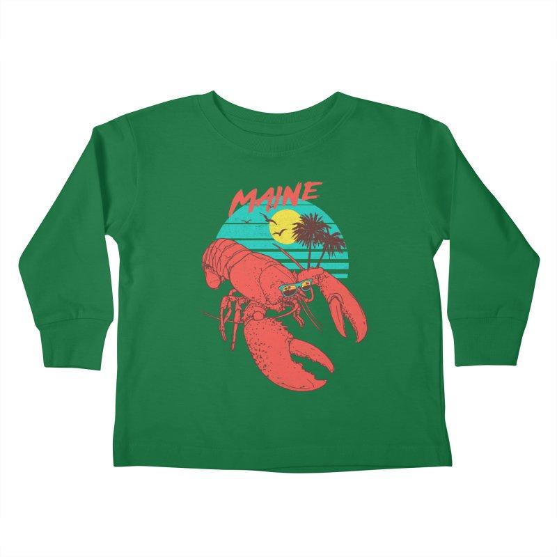 Maine Kids Toddler Longsleeve T-Shirt by hillarywhiterabbit's Artist Shop