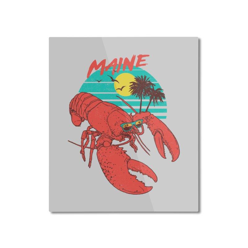 Maine Home Mounted Aluminum Print by hillarywhiterabbit's Artist Shop