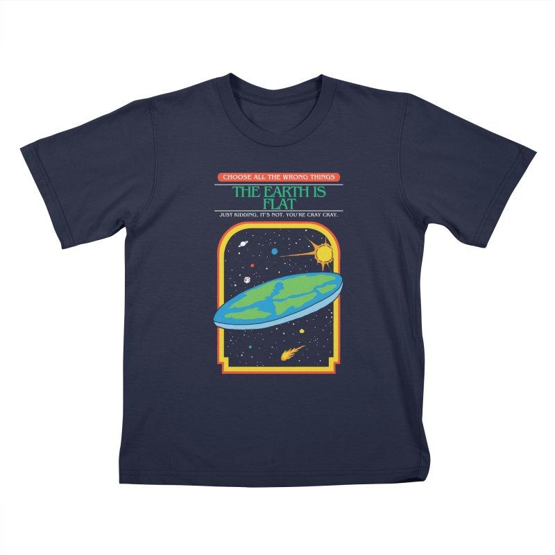 The Earth Is Flat Kids T-Shirt by hillarywhiterabbit's Artist Shop