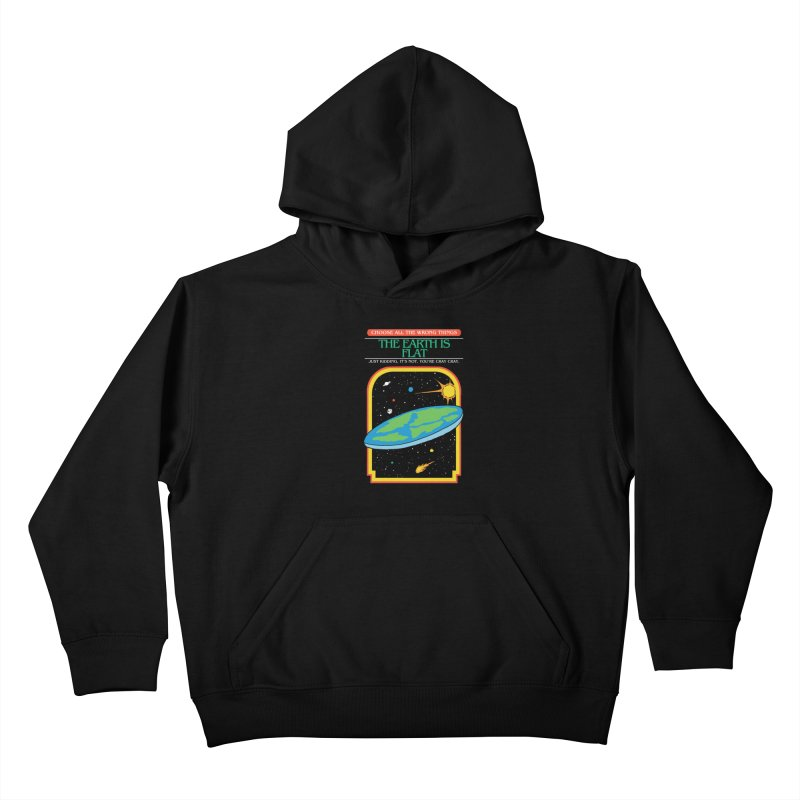 The Earth Is Flat Kids Pullover Hoody by hillarywhiterabbit's Artist Shop