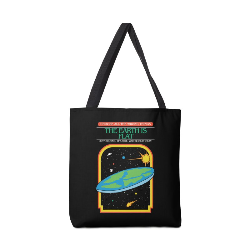 The Earth Is Flat Accessories Bag by hillarywhiterabbit's Artist Shop