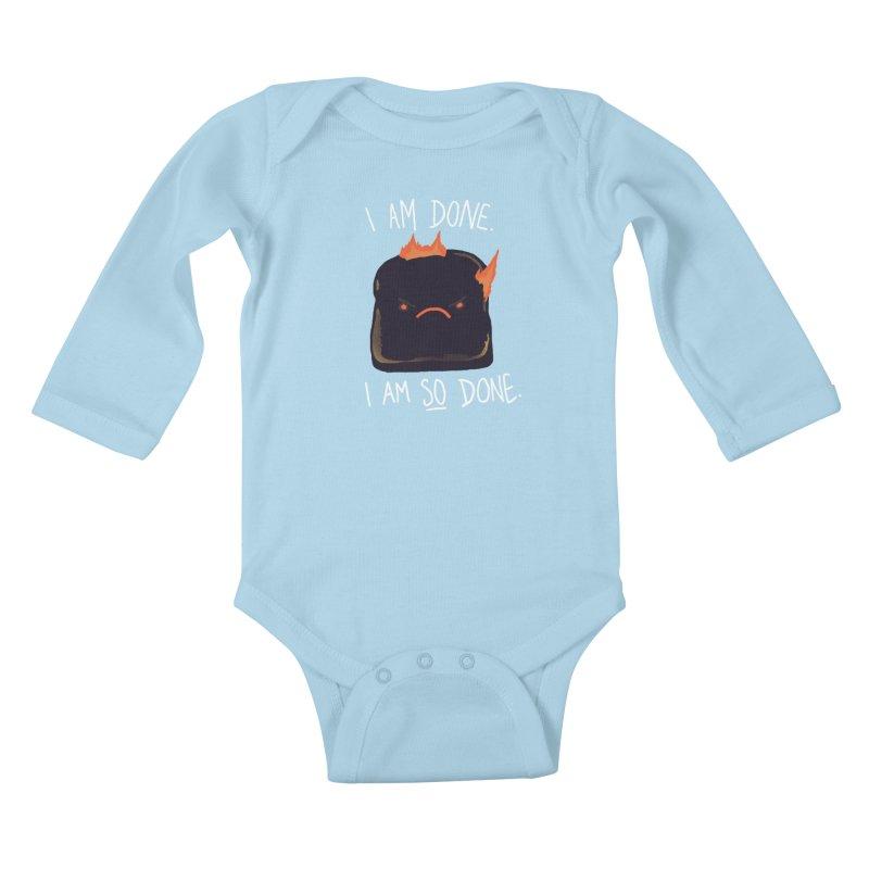 Toast Kids Baby Longsleeve Bodysuit by hillarywhiterabbit's Artist Shop
