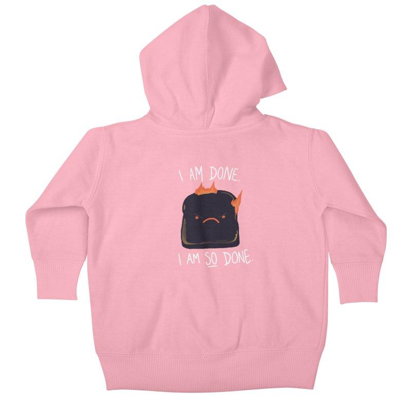 Toast Kids Baby Zip-Up Hoody by hillarywhiterabbit's Artist Shop