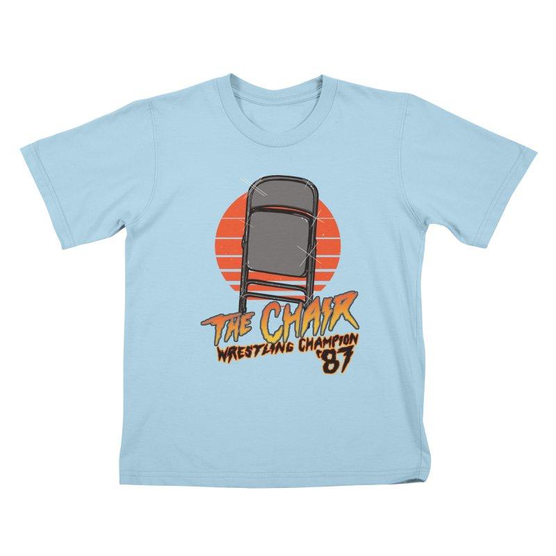 Wrestling Champion Kids T-Shirt by hillarywhiterabbit's Artist Shop