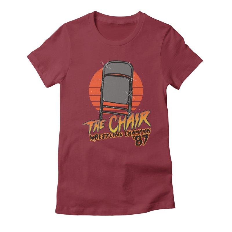 Wrestling Champion Women's Fitted T-Shirt by hillarywhiterabbit's Artist Shop