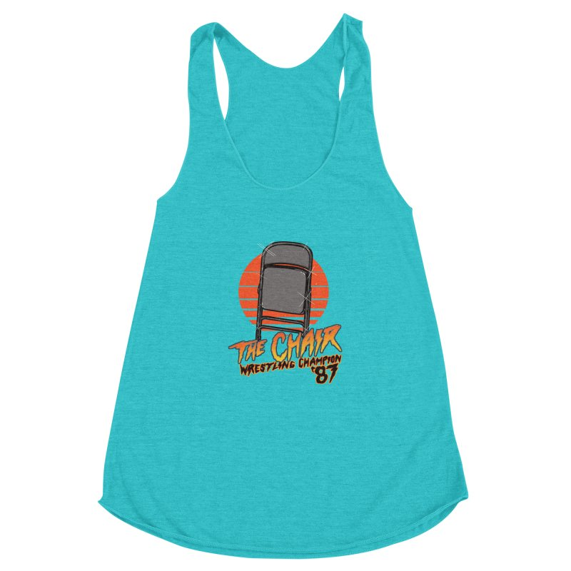 Wrestling Champion Women's Racerback Triblend Tank by hillarywhiterabbit's Artist Shop