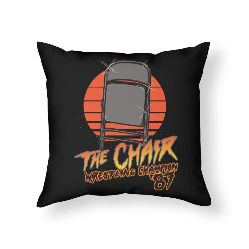 Wrestling Champion Home Throw Pillow by hillarywhiterabbit's Artist Shop