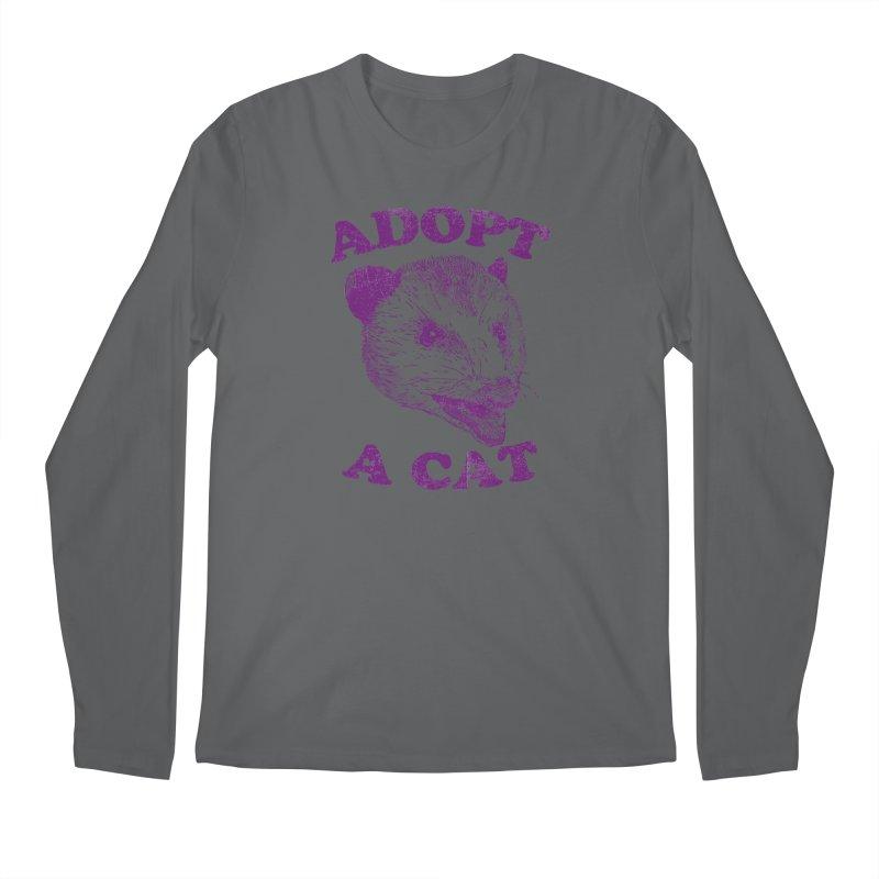 Adopt A Cat Men's Longsleeve T-Shirt by hillarywhiterabbit's Artist Shop