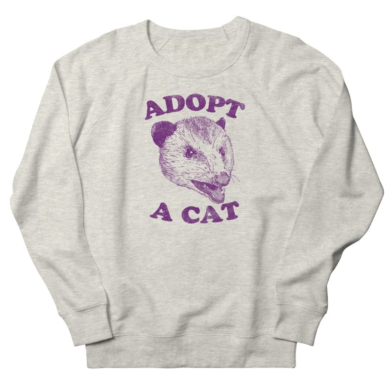 Adopt A Cat Men's Sweatshirt by hillarywhiterabbit's Artist Shop