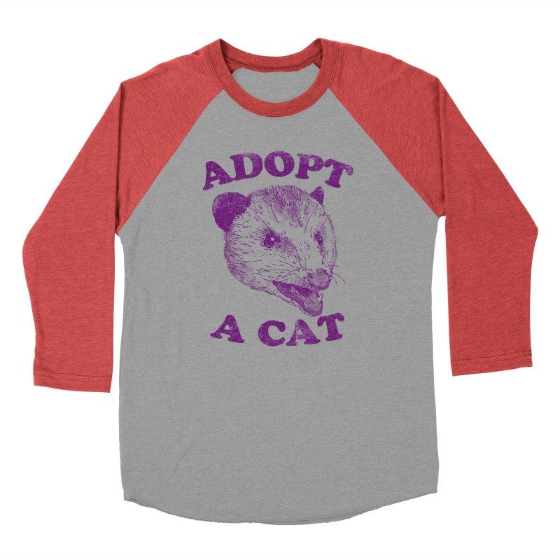 Adopt A Cat Men's Baseball Triblend T-Shirt by hillarywhiterabbit's Artist Shop