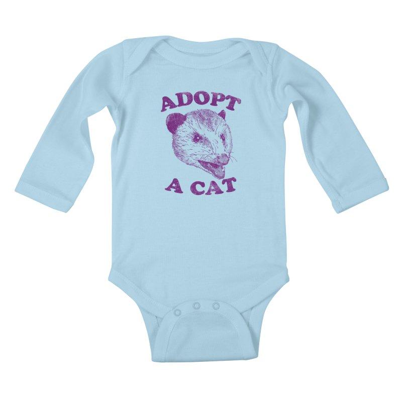 Adopt A Cat Kids Baby Longsleeve Bodysuit by hillarywhiterabbit's Artist Shop