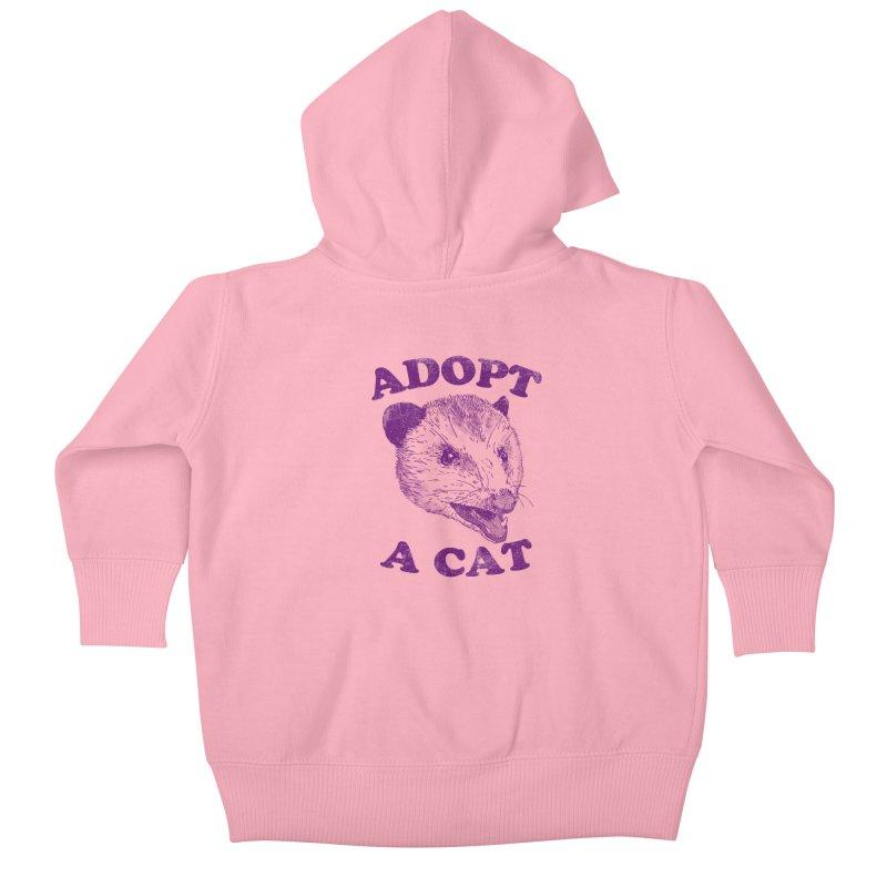 Adopt A Cat Kids Baby Zip-Up Hoody by hillarywhiterabbit's Artist Shop