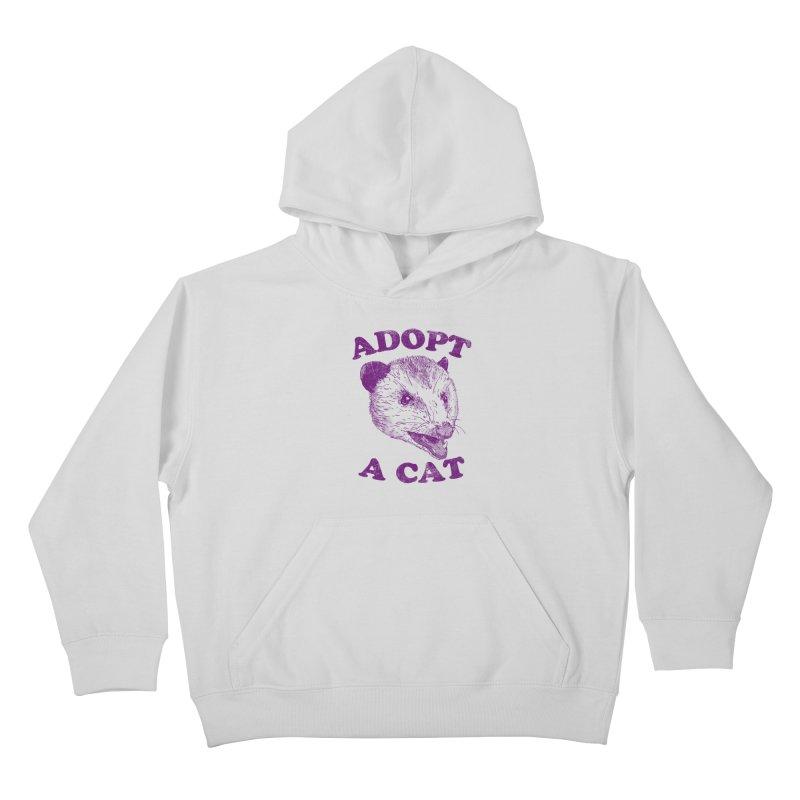 Adopt A Cat Kids Pullover Hoody by hillarywhiterabbit's Artist Shop