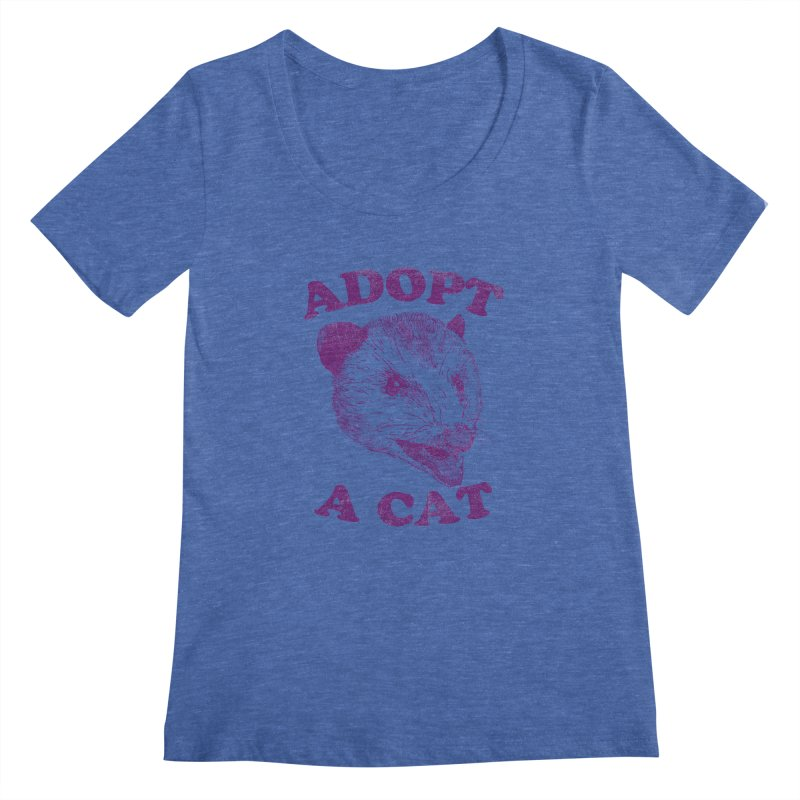 Adopt A Cat Women's Scoopneck by hillarywhiterabbit's Artist Shop
