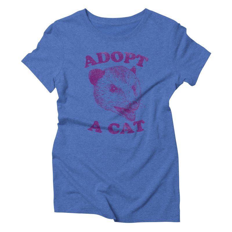 Adopt A Cat Women's Triblend T-Shirt by hillarywhiterabbit's Artist Shop