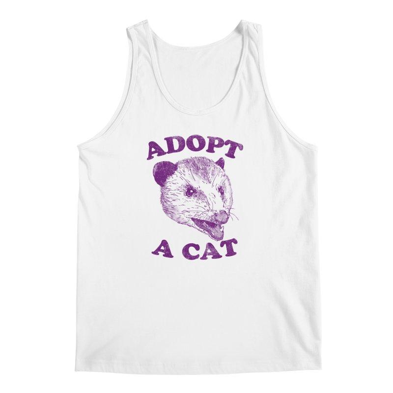 Adopt A Cat Men's Tank by hillarywhiterabbit's Artist Shop
