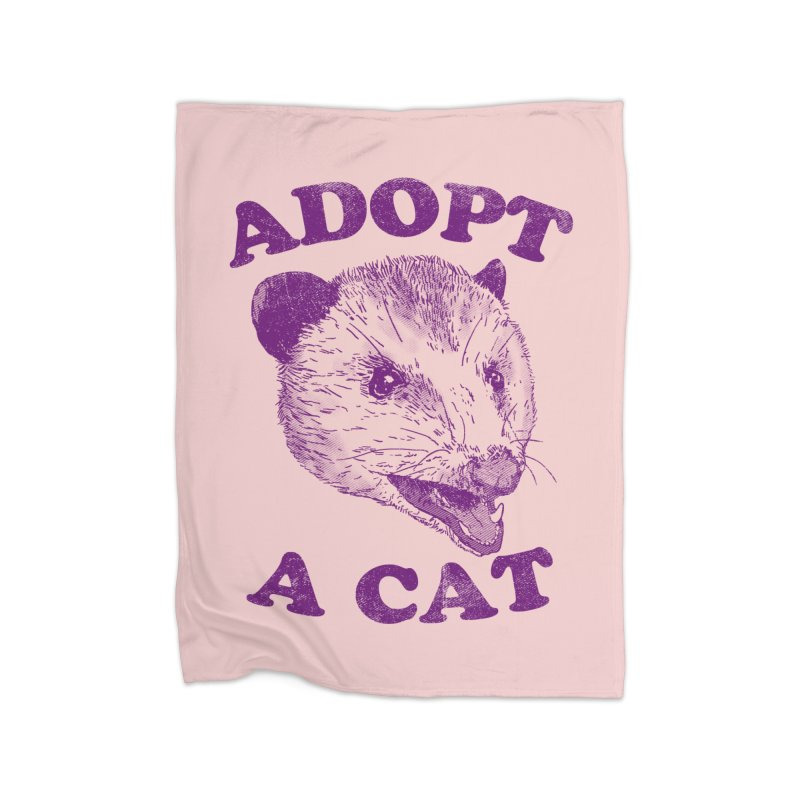 Adopt A Cat Home Blanket by hillarywhiterabbit's Artist Shop
