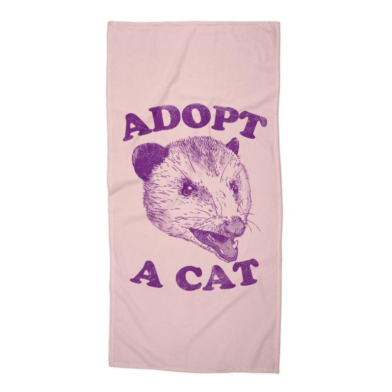 Adopt A Cat Accessories Beach Towel by hillarywhiterabbit's Artist Shop