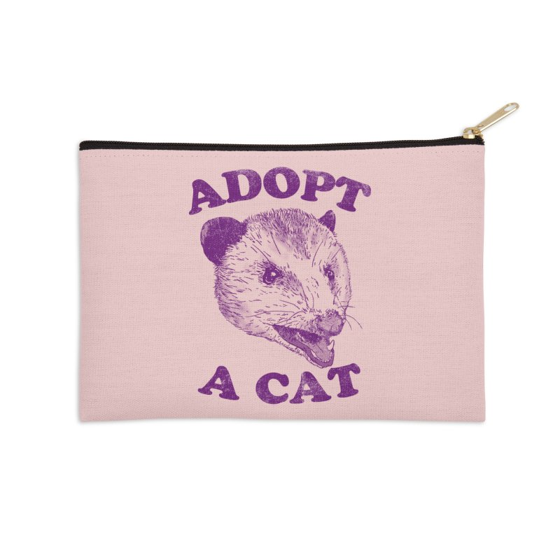 Adopt A Cat Accessories Zip Pouch by Hillary White