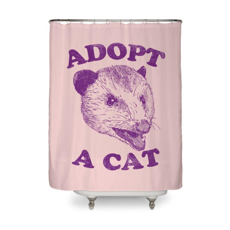 Adopt A Cat Home Shower Curtain by hillarywhiterabbit's Artist Shop