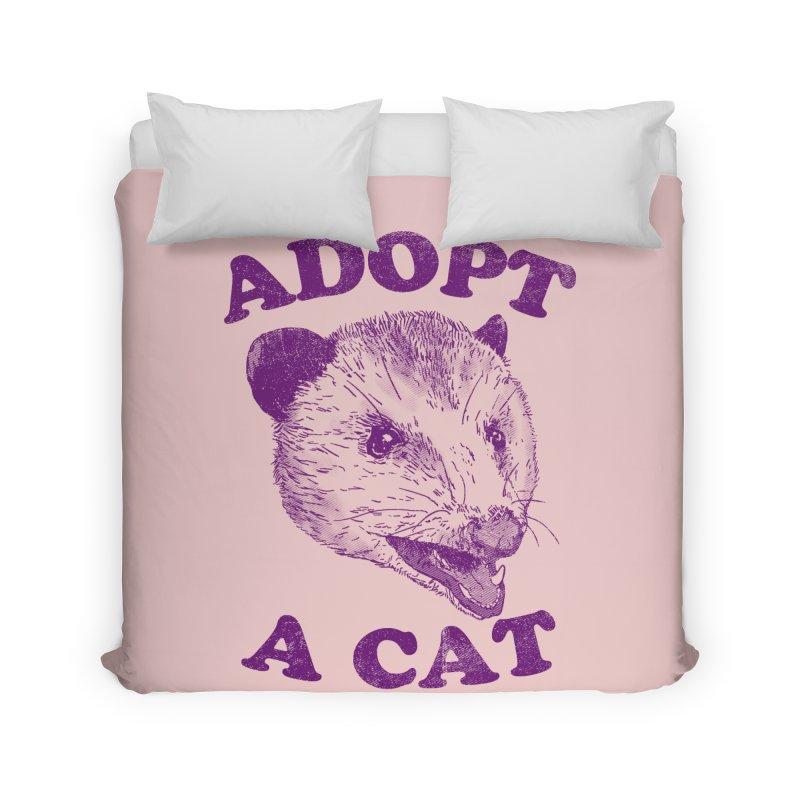 Adopt A Cat Home Duvet by hillarywhiterabbit's Artist Shop