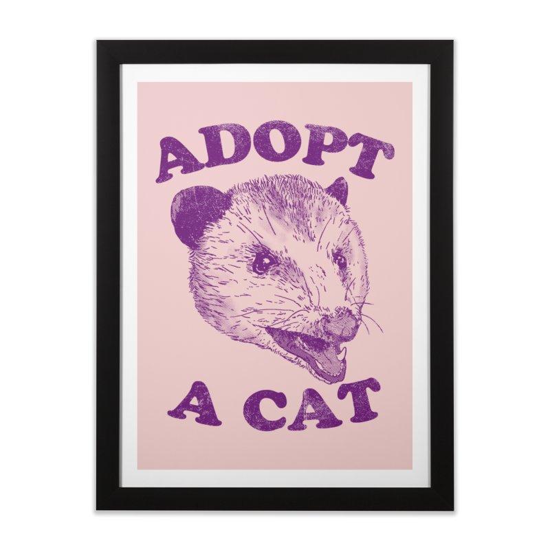 Adopt A Cat Home Framed Fine Art Print by hillarywhiterabbit's Artist Shop