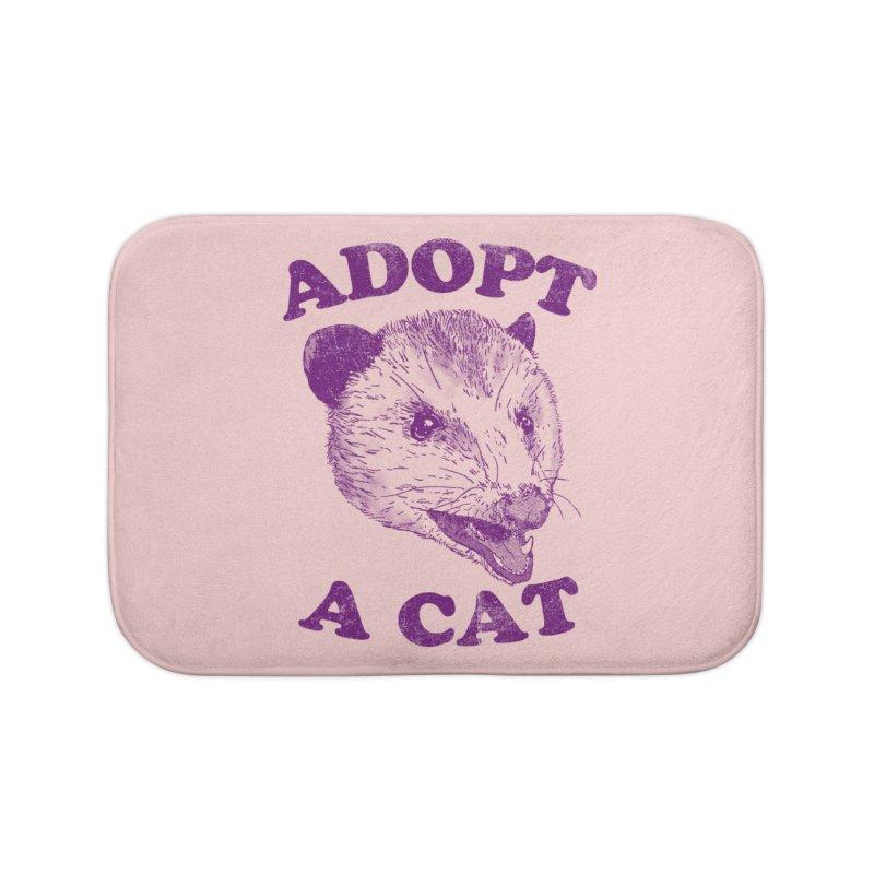 Adopt A Cat Home Bath Mat by hillarywhiterabbit's Artist Shop
