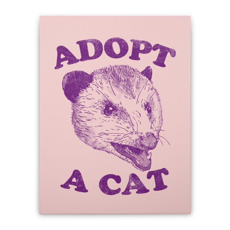 Adopt A Cat Home Stretched Canvas by hillarywhiterabbit's Artist Shop