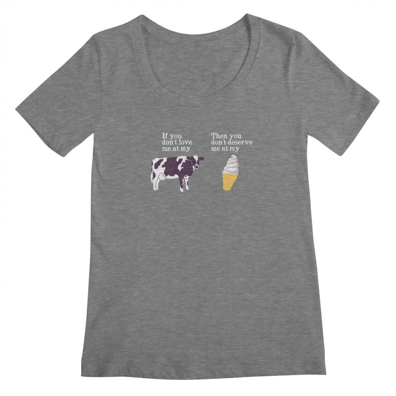 Deserve Ice Cream Women's Scoopneck by hillarywhiterabbit's Artist Shop