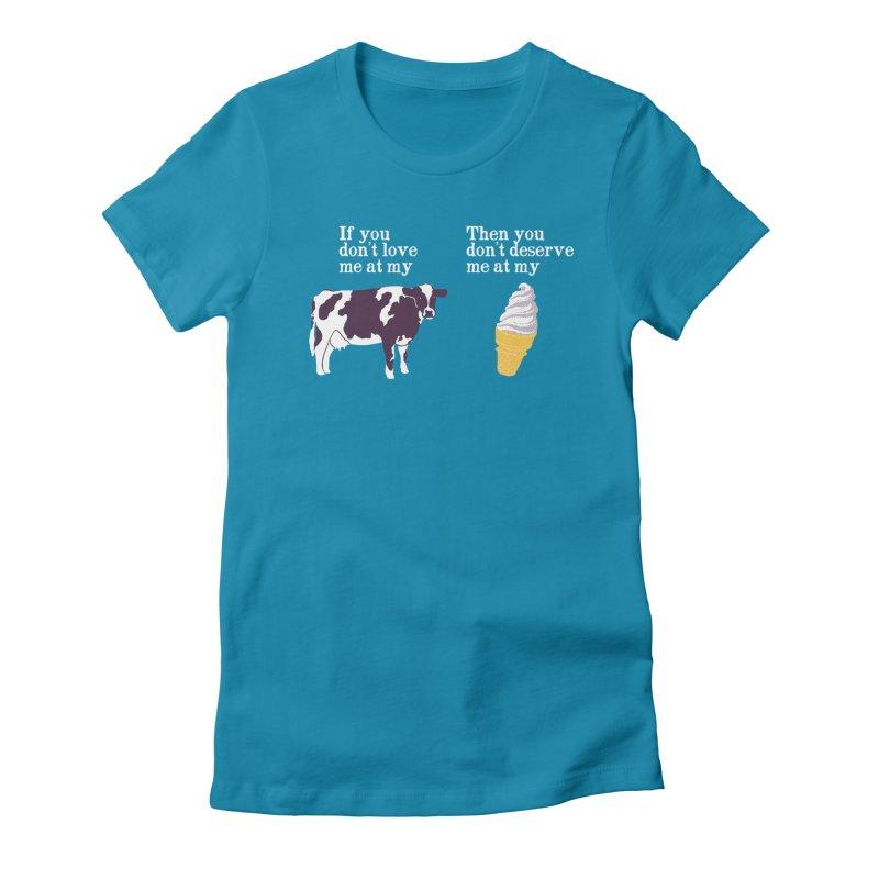 Deserve Ice Cream Women's Fitted T-Shirt by hillarywhiterabbit's Artist Shop
