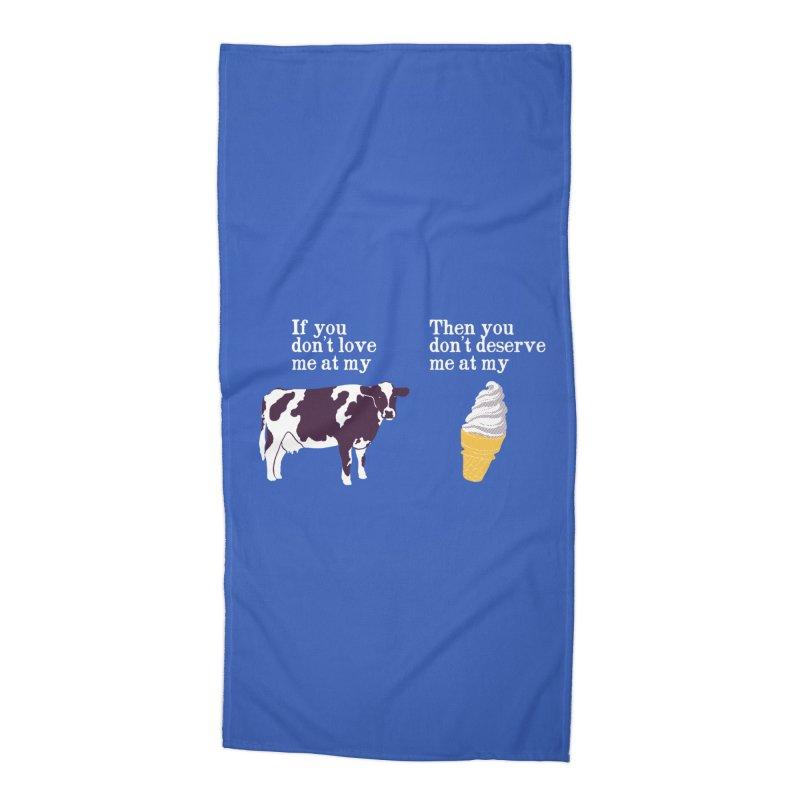 Deserve Ice Cream Accessories Beach Towel by hillarywhiterabbit's Artist Shop