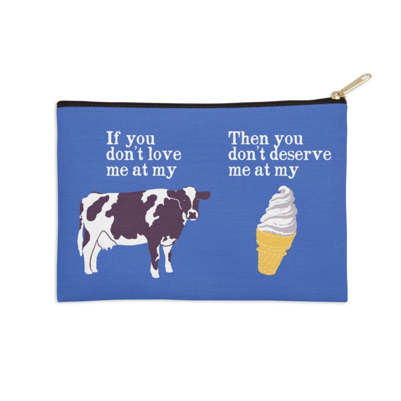 Deserve Ice Cream Accessories Zip Pouch by Hillary White