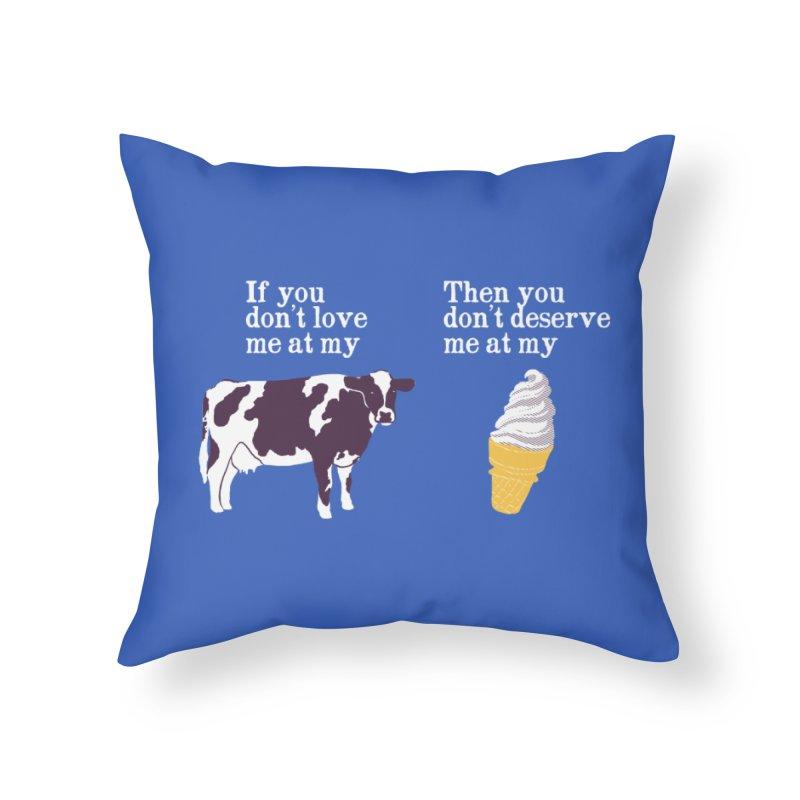 Deserve Ice Cream Home Throw Pillow by hillarywhiterabbit's Artist Shop