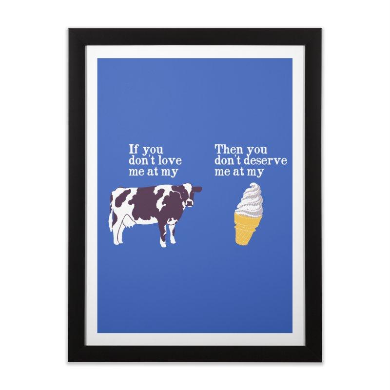 Deserve Ice Cream Home Framed Fine Art Print by hillarywhiterabbit's Artist Shop