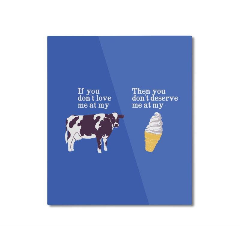 Deserve Ice Cream Home Mounted Aluminum Print by hillarywhiterabbit's Artist Shop