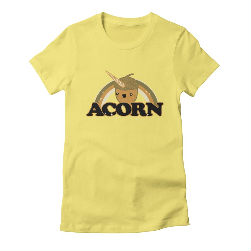 Acorn Women's Fitted T-Shirt by hillarywhiterabbit's Artist Shop