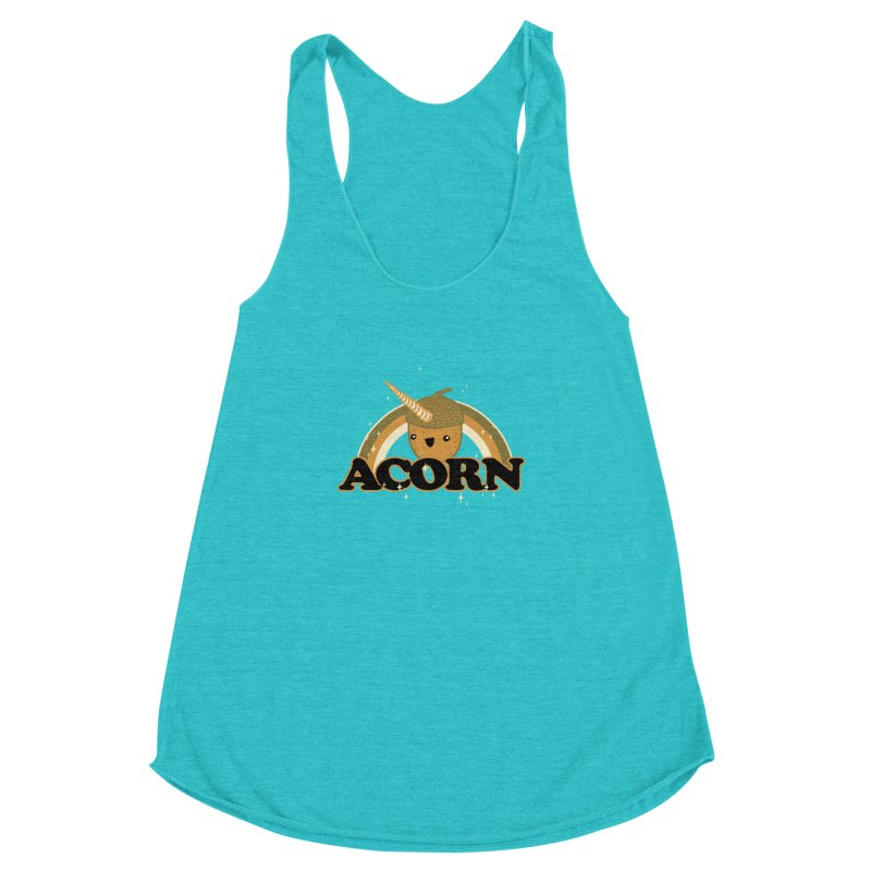 Acorn Women's Racerback Triblend Tank by hillarywhiterabbit's Artist Shop