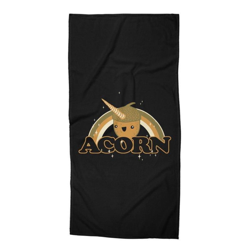 Acorn Accessories Beach Towel by hillarywhiterabbit's Artist Shop