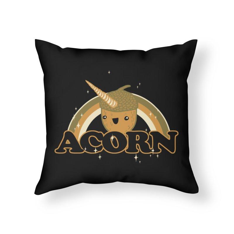 Acorn Home Throw Pillow by hillarywhiterabbit's Artist Shop