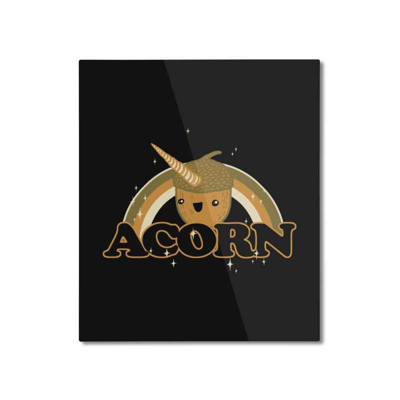 Acorn Home Mounted Aluminum Print by hillarywhiterabbit's Artist Shop