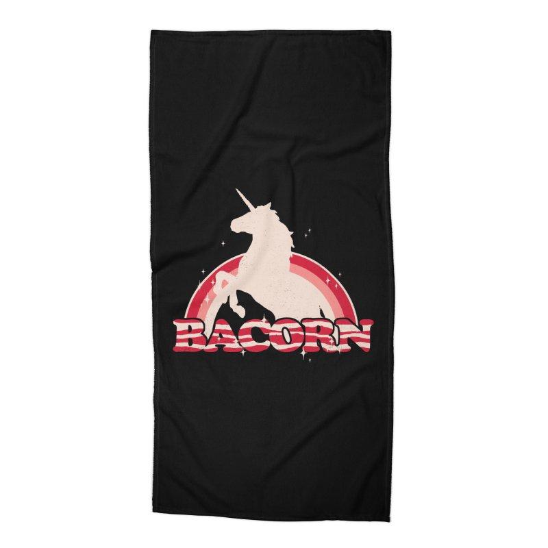 Bacorn Accessories Beach Towel by hillarywhiterabbit's Artist Shop