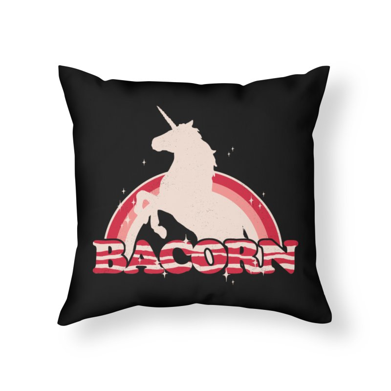 Bacorn Home Throw Pillow by hillarywhiterabbit's Artist Shop