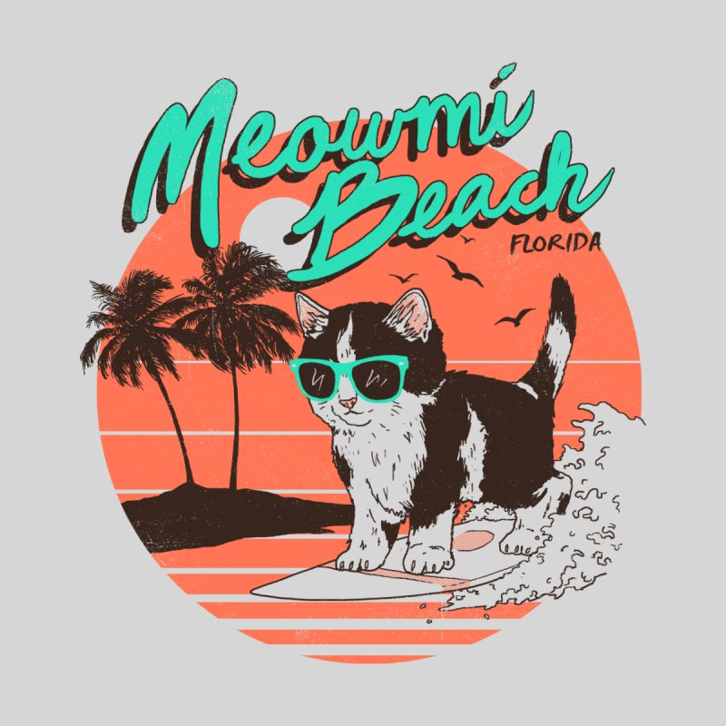 Meowmi Beach Women's V-Neck by hillarywhiterabbit's Artist Shop