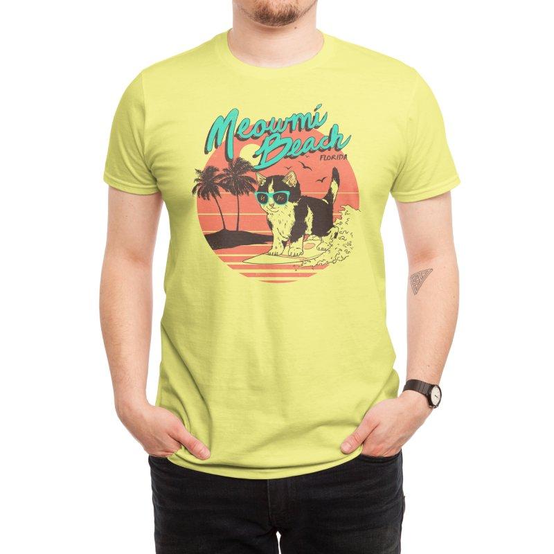 Meowmi Beach Men's T-Shirt by Hillary White Rabbit