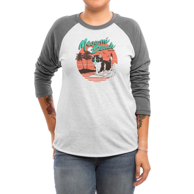 Meowmi Beach Women's Longsleeve T-Shirt by Hillary White Rabbit