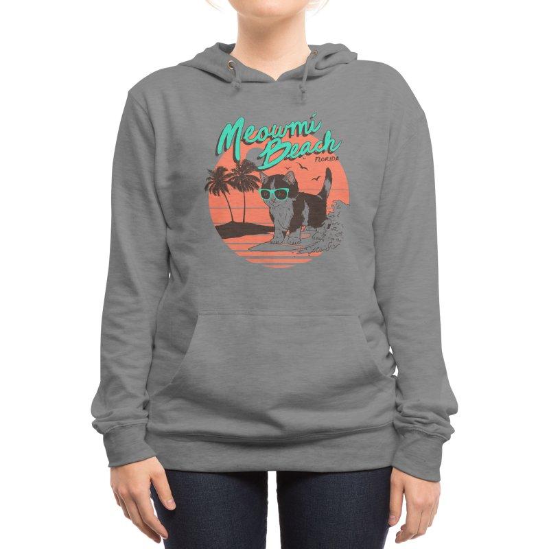 Meowmi Beach Women's Pullover Hoody by Hillary White Rabbit