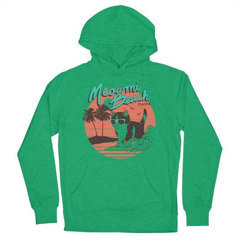 Meowmi Beach Men's Pullover Hoody by hillarywhiterabbit's Artist Shop