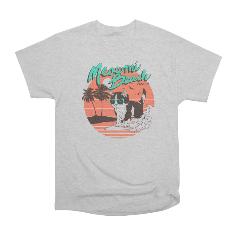 Meowmi Beach Women's Classic Unisex T-Shirt by hillarywhiterabbit's Artist Shop