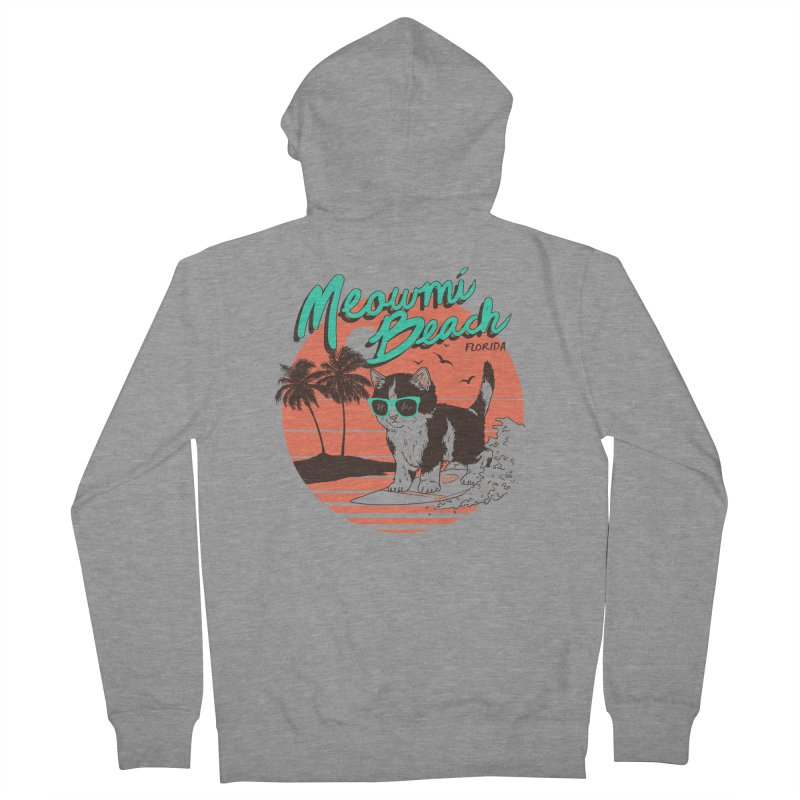 Meowmi Beach Women's Zip-Up Hoody by hillarywhiterabbit's Artist Shop